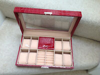 Jewellery and Watches box comes with Key top condition use to display