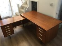 Retro solid wooden desk
