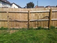 Heavy cast iron driveway gates