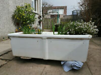 Shanks Double Belfast Sink / large garden planter / mud kitchen