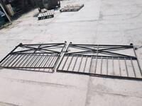 Wrought iron double garden gates drive way gates (#4)