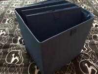 B & Q Blue Storage Box (W)310mm (L)310 mm x 4