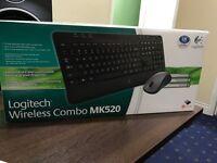 Logitech Wireless Keyboard and Mouse - New