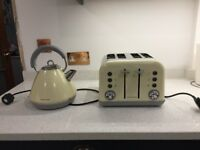 Murphy Richards kettle and toaster cream