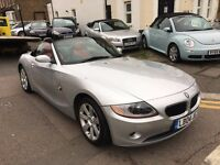 BMW Z4 2.2i SE CONVERTIBLE PETROL RED LEATHER FULL SERVICE HISTORY 2 OWNER 2 KEYS LONG MOT HPI CLEAR