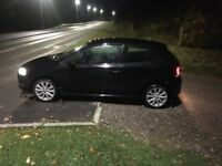 Volkswagen Polo 1.2 in black, low mileage.