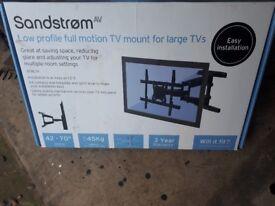 Sandstorm low profile full motion tv mount
