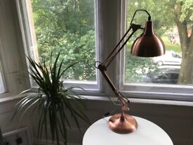 Rose gold desk/table lamp