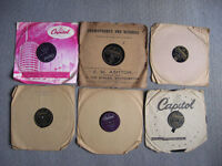 "Job lot 10"" 78rpm Cole Crosby Fisher Laine Lanza Orioles Sinatra 60+ as listed"