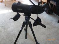 opticron telescope ES80 GA ED on manfrotto tripod