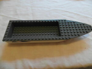 Lego-Boat-Hull-Unitary-28-x-8-Complete-Assembly-White-and-Grey-92710c01