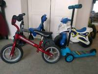 Balance bike/scooter/tricycle £10-15each