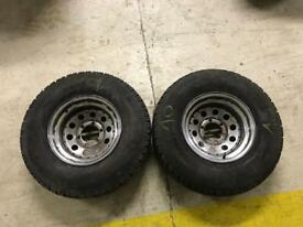 2 x West Lake Toyota Hilux 6 Stud 4x4 Wheels Tyres Off-road