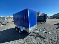BRAND NEW 10 X 5 TWIN AXLE TRAILER WITH FRAME AND 150CM COVER 750KG...