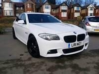 2011 BMW F10 5 SERIES 520D M SPORT WHITE 4 DOOR PRO SAT NAV LEATHERS XENONS
