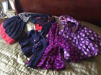 Girls clothing bundle 12-18 months including coat, denim jacket, fleece and dress