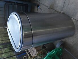 Stainless steel click close bin