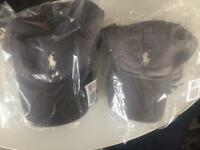 Brand new Ralph Lauren baseball cap hat new with tags dark grey and light grey