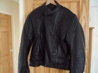 Black Leather Akito Motorcycle Jacket.