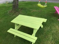 Children's picnic table. Suit 3-8 years. Other colours and sizes available.