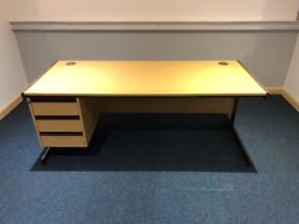 Office Desk with Integrated Draw Unit 1800MM-Wx750MM-Dx710MM-H