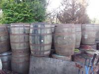 Used oak whiskey casks for garden pub bar patio