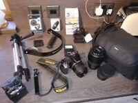 Nikon D5500 DSLR Camera - 2 LENSES - 24.2 mp - Touch Screen - PLUS EXTRAS - VIEW NOW