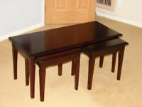 Stag mahogany nested tables