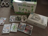 WII + Wii fit with CDs