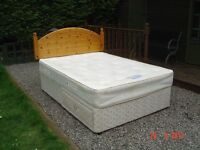 Double Divan Bed with Two Drawers in the Base also a Orthopaedic Mattress. Can Deliver.