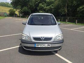 Vauxhall Zafira Club dti Turbo Diesel 2.0cc 100bhp 5 door mpv 7 seater 03/2003 3 former keepers mot