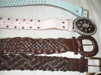 4 ladies leather belts