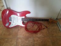 Encore electric guitar, amp, stand, carry bag and lead