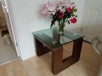 Coffee Table - Glass and Walnut