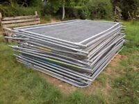 Heras site security fencing frames