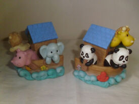 NOAH'S ARK BOOKENDS,IN AS NEW CONDITION