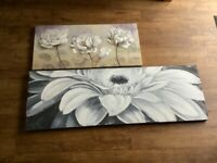 Canvas paintings x2