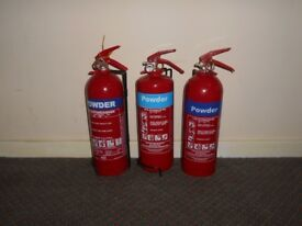 Fire Extinguishers x3 Powder
