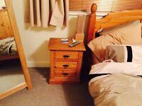 Pine bedside table