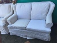 2 x 2 seater sofas and armchair