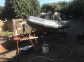 Inflatable rib with 25hp Yamaha outboard and trailer boat / fishing / sea