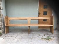 Antique pitch pine pew