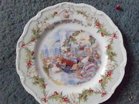 Brambley Hedge rare Christmas plates