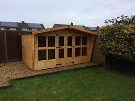 """12x8 summer house with 18"""" canopy"""