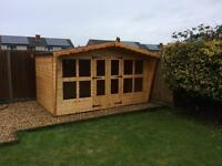 "12x8 summer house with 18"" canopy"