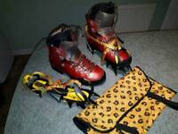 Winter boots and crampons
