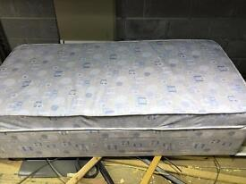 Single bed base and mattress with storage