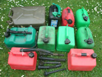 Selection of Fuel Petrol Diesel Jerry Cans Containers 5L 10L 20L