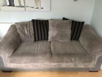 3 Seater Cord Sofa Hardly Ever Used