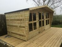 14x8 t&g tanalized summer house with canopy